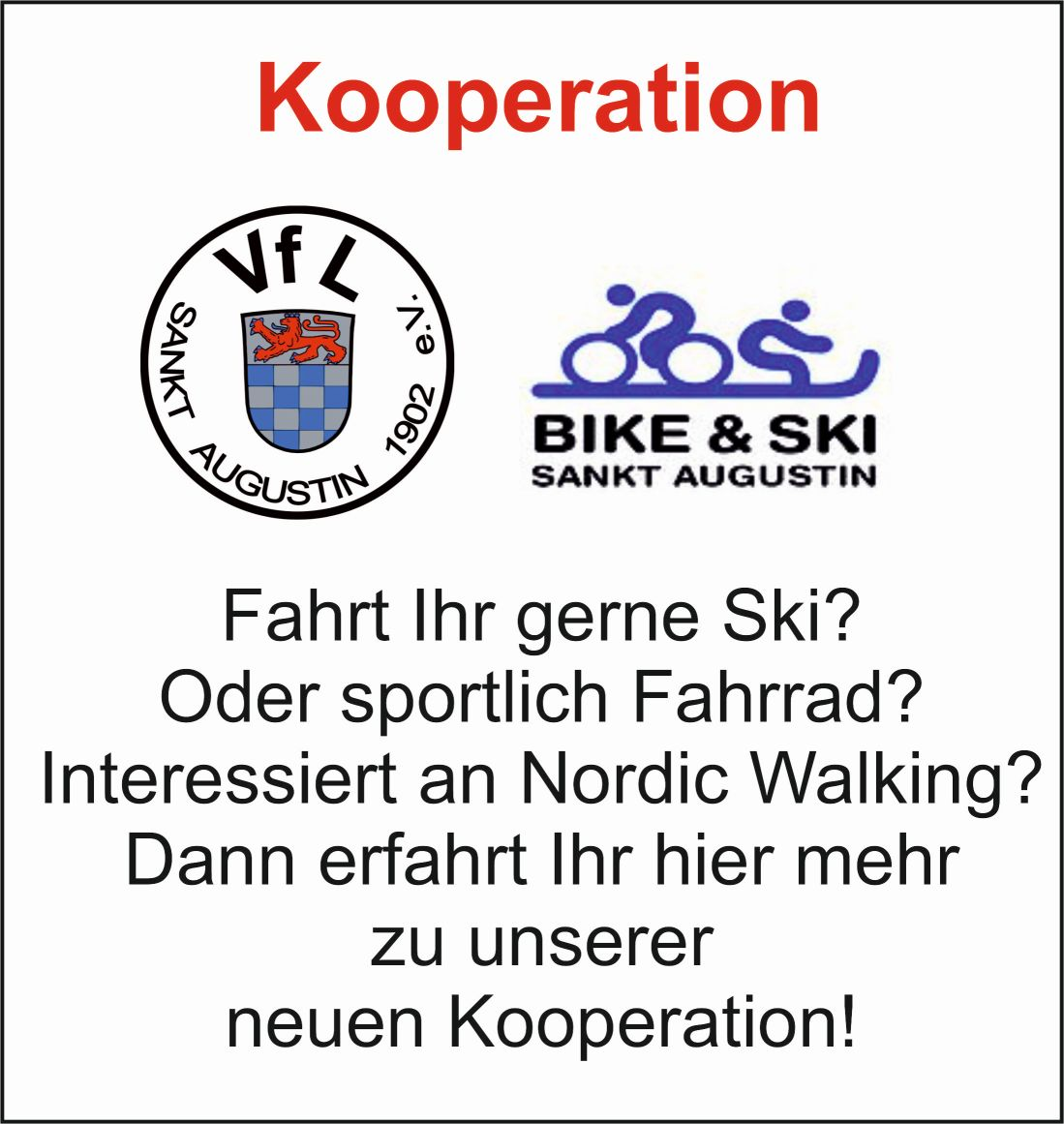 Kooperation mit Bike + Ski